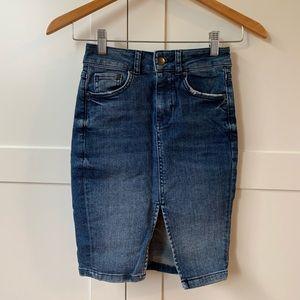 HM   Jean Pencil Skirt